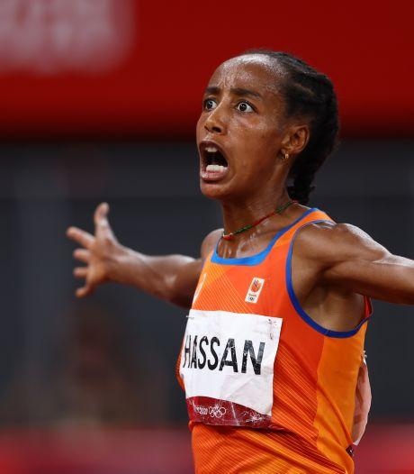 Sifan Hassan excelleert naar goud op 10 kilometer: 'Ik ben zo dankbaar'