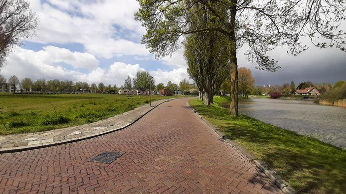 De toekomstige villawijk Vlijweide in Dordrecht.