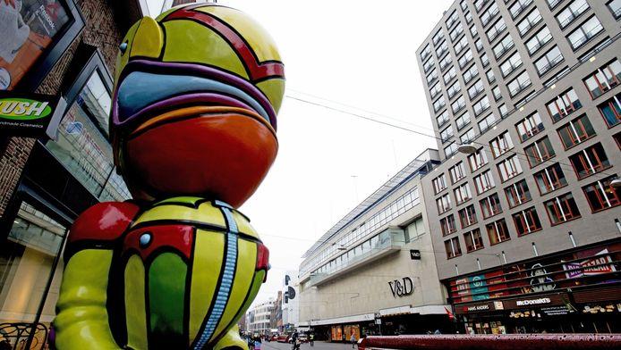 Het V&D-pand aan de Grote Marktstraat in Den Haag.