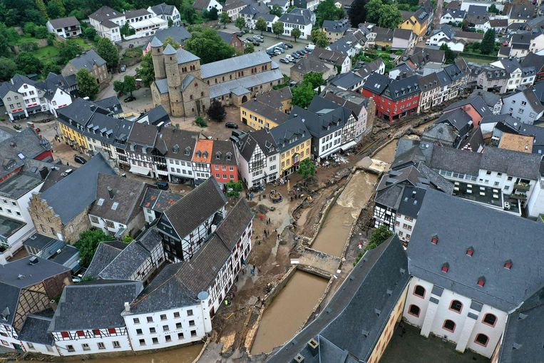 An aerial view of historic Bad Münstereifel.  Image AFP