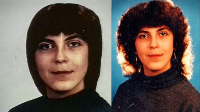 Rechts de foto die destijds door de politie werd verspreid van Judit Nyari. Links dezelfde foto, maar dan met een ander kapsel.