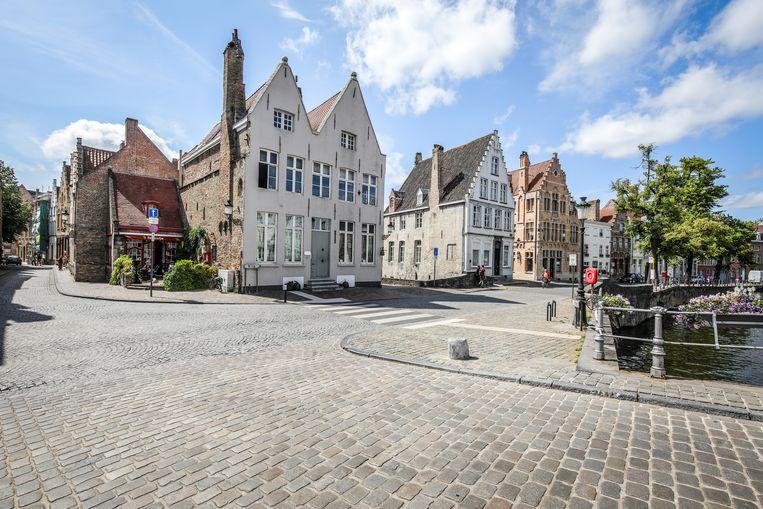 Brugge er komen luchtkwaliteit meettoestellen: hoek Langerei Genthof