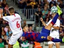 Barcelona verliest hoofd in slotfase, maar wint ruim van Sevilla