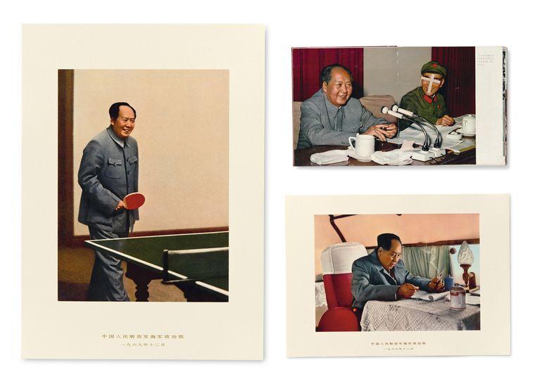 De britse fotograaf martin parr, een fanatiek fotoboekenverzamelaar, wilde een collectie aanleggen van publicaties met socialistische fotografie uit de begindagen van de communistische partij en van de culturele revolutie (1966-1976), een periode die aan tientallen miljoenen chinezen het leven kostte, maar die in de boeken uiteraard anders werd verbeeld. Beeld 'Lang leve voorzitter Mao' (1969).