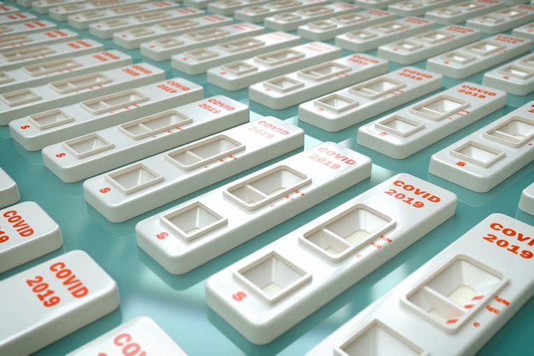 Nederland heeft tientallen miljoenen sneltests op voorraad. Beeld Getty