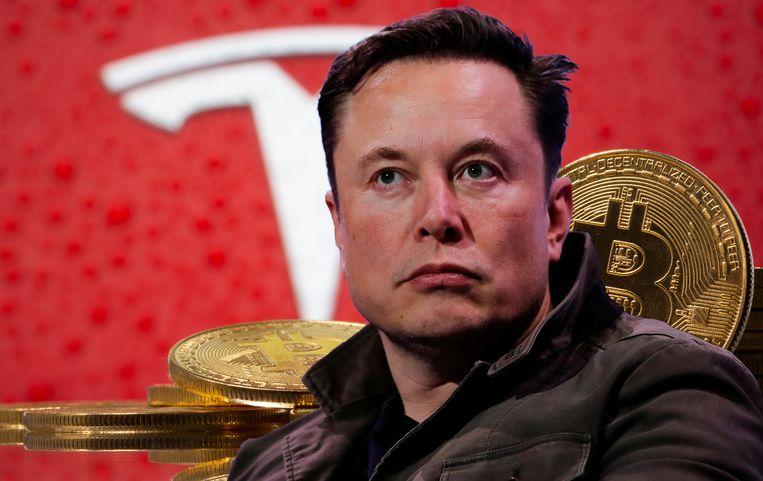 Elon Musk van Tesla promoot de bitcoin. Beeld REUTERS