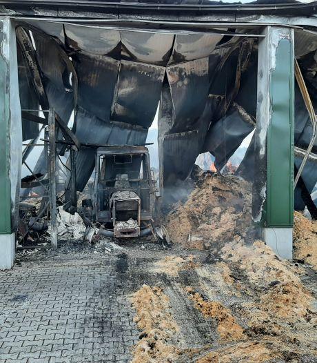 Verwoestende brand in Haarle: diervoederhandelaar Kerkdijk ziet 'levenswerk' in vlammen opgaan