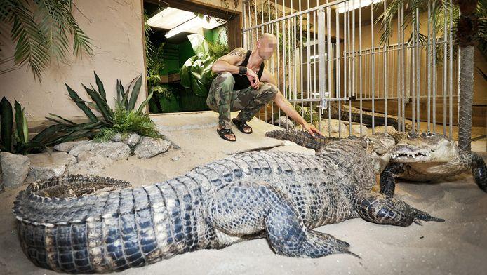 Ferry P. met zijn krokodillen.