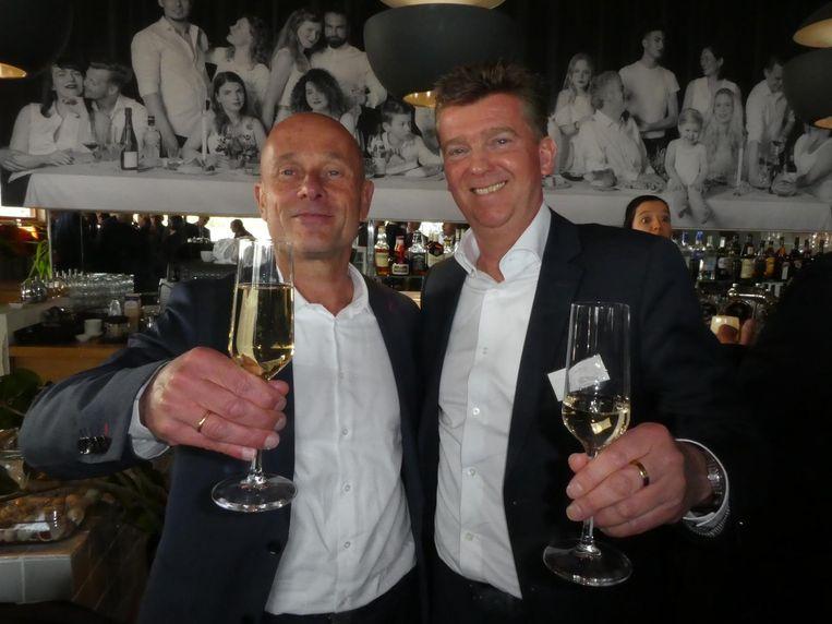 Allard van Spaandonk (Bouwinvest) en Hans Meurs (Vorm): ' Super duurzaam en super iconisch. Misschien wel het mooiste gebouw van Nederland.' Beeld Hans van der Beek