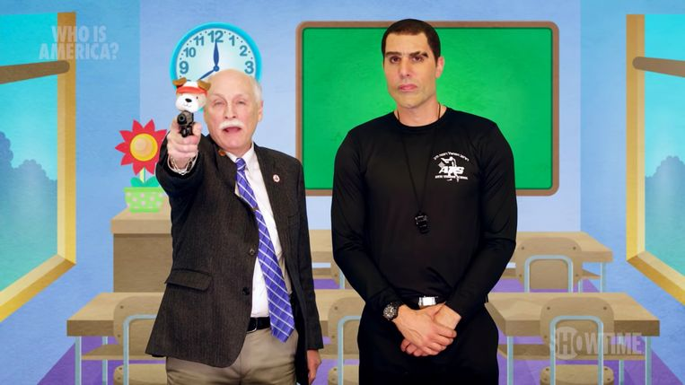 Sacha Baron Cohen in Who is America? Beeld Showtime