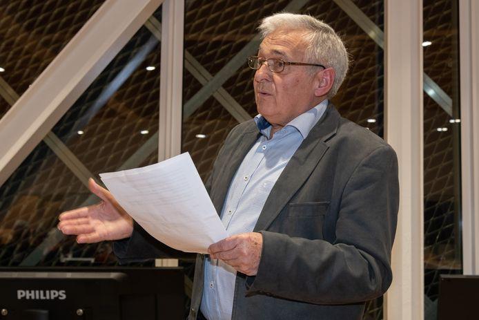 Voorzitter Robert Beyens tijdens zijn toespraak