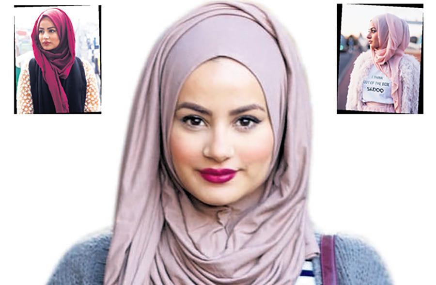Ruba gehuld in drie verschillende combinaties.