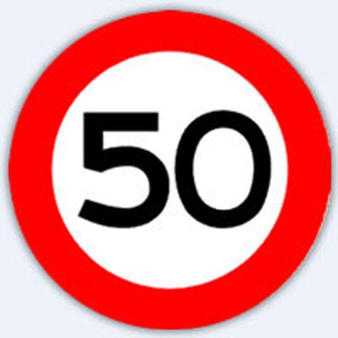 Verkeersbord 50 km