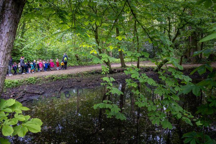 BLAASVELD De kleuters van basisschool HIMO wandelen rond kasteel Bel-Air voor het goede doel
