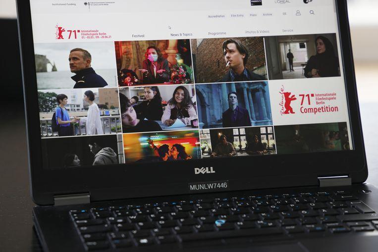 De website van de 71ste Berlinale. Beeld Getty Images