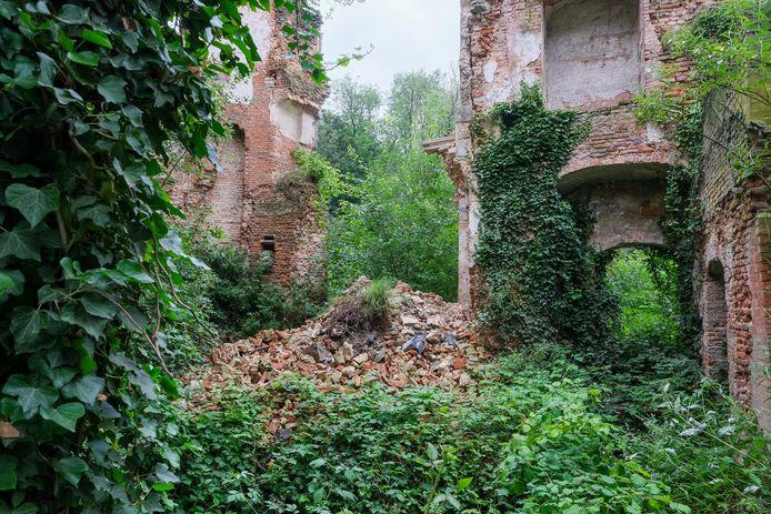 Een deel van een muur van het Prinsenkasteel in Grimbergen stortte in.