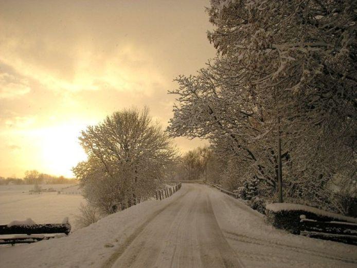 Steinsedijk op archieffoto in winterse sferen.