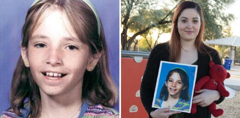 Links: Mikelle Beggs toen ze mysterieus verdween. Rechts: haar zus Kimber