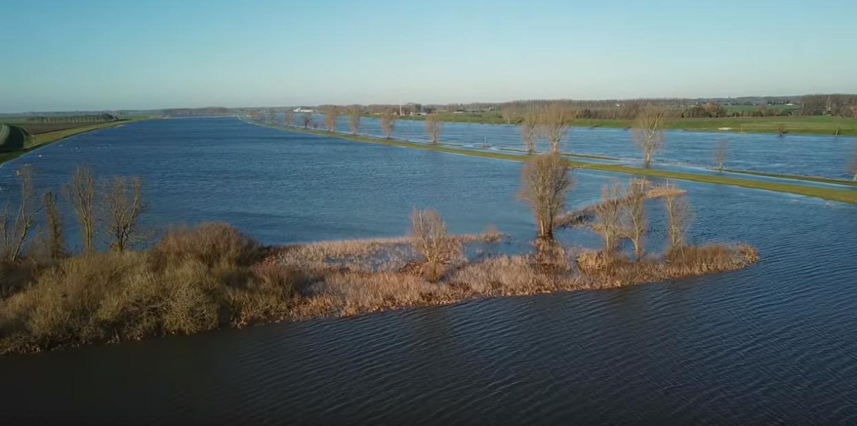 Het waterpeil in de Bergsche Maas staat momenteel een meter boven NAP, maar gaat nog flink stijgen verwacht waterschap Brabantse Delta.