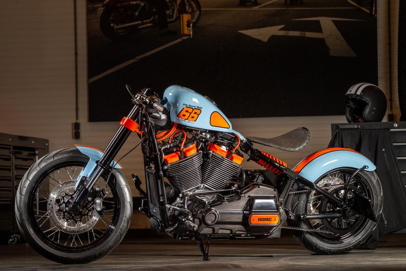 De winnende Harley-Davidson van Oude Monnink Motors uit Borne.