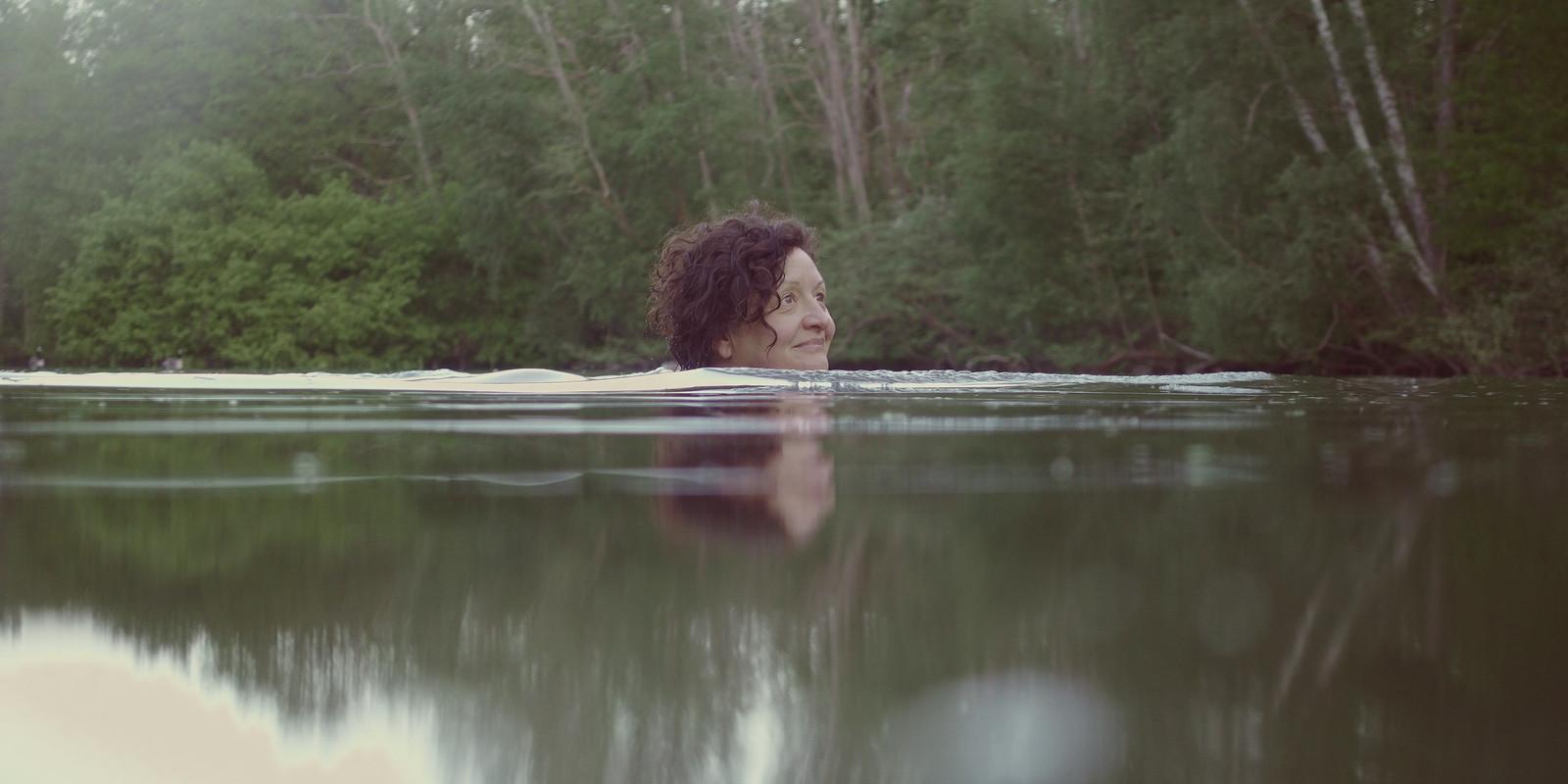 Sigrid Spruyt mag zelf ook graag zwemmen in open water.