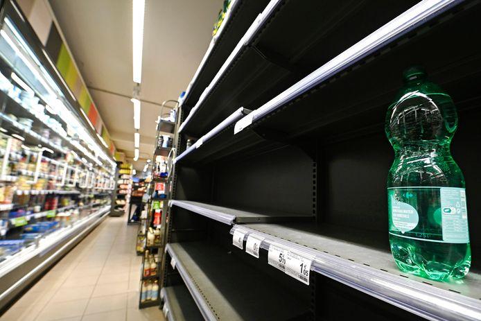Magasin Carrefour à Bruxelles, ce mardi.