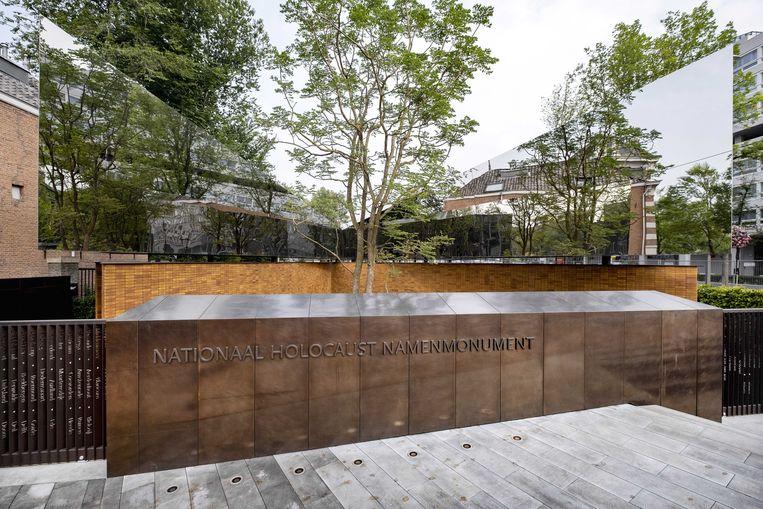 Het Nationaal Holocaust Namenmonument aan de Weesperstraat van architect Daniel Libeskind. Beeld ANP