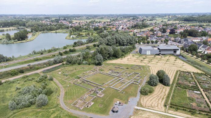 De archeologische site van Ename.