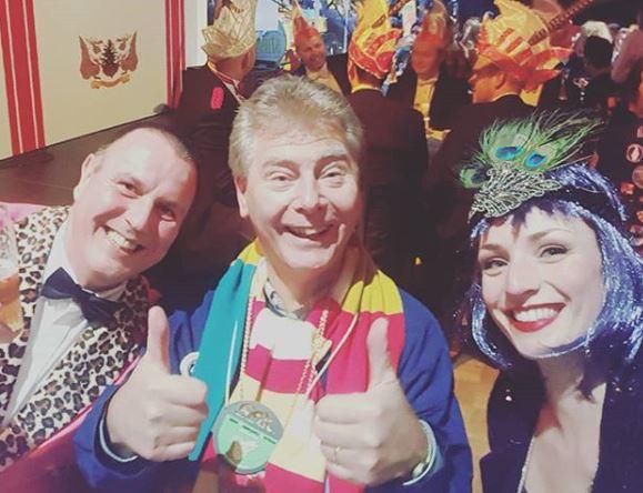 De drie wethouders van Oisterwijk op het Sauwelgala in Döllekesgat (vlnr): Dion Dankers, Peter Smit en Stefanie Vatta
