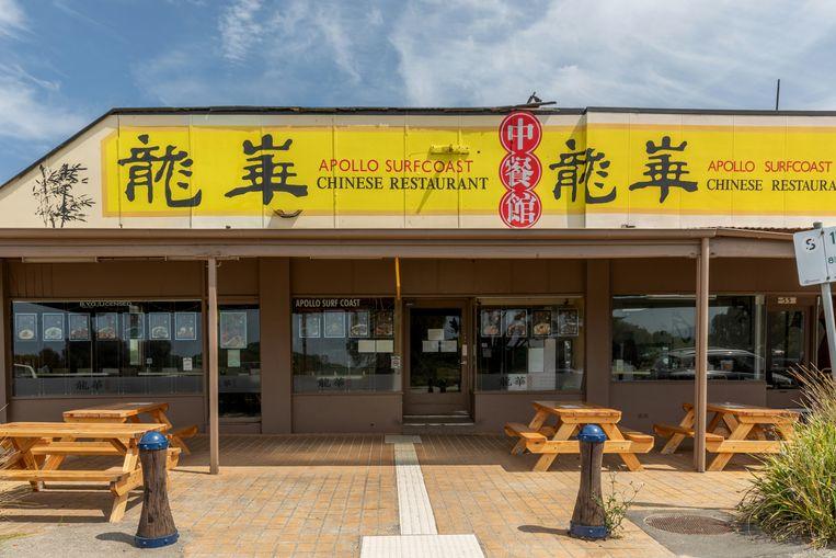 Het Apollo Surfcoast-restaurant, gespecialiseerd in een snelle hap voor Chinese dagjesmensen – die er al een jaar lang niet zijn. Beeld NYT