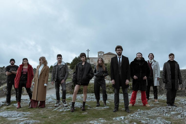 De cast van 'La casa de papel 3' Beeld Netflix