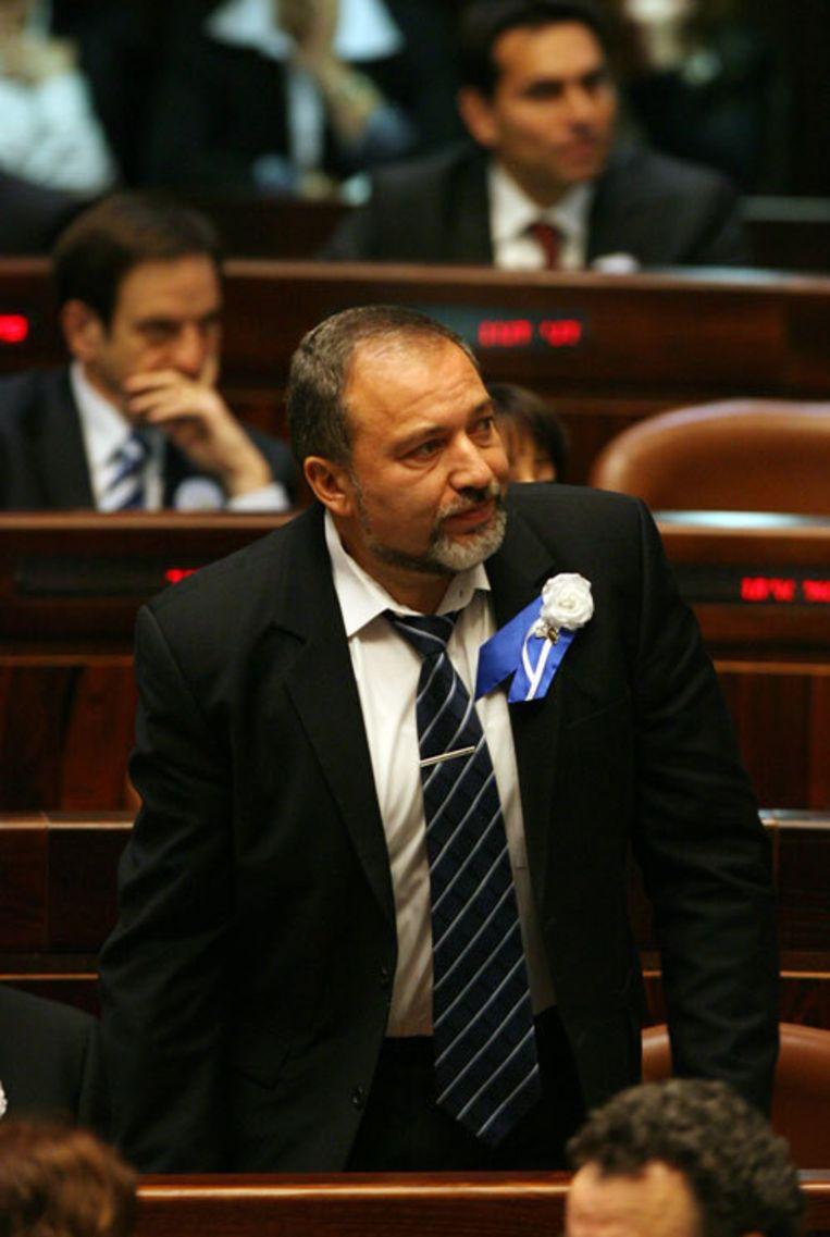 Lieberman, die volgens critici racistisch is vanwege zijn anti-Palestijnse uitspraken, zei eerder al de in 1967 veroverde hoogvlakte van Golan niet te willen teruggeven aan Syrië. Foto AP Beeld