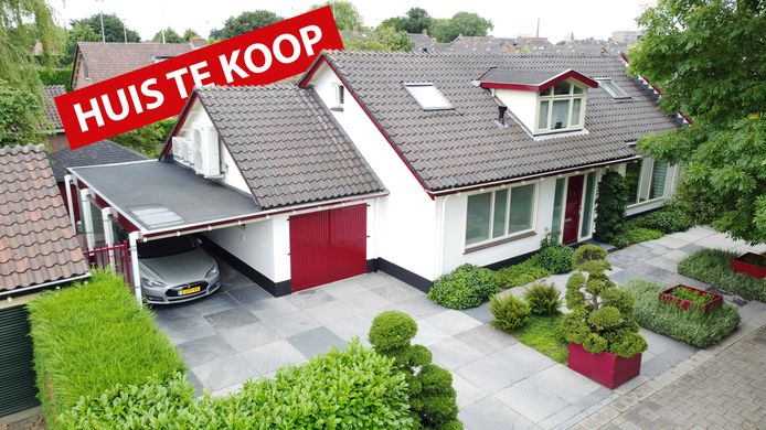 Het huis aan het Robert Campinplantsoen in Woerden.