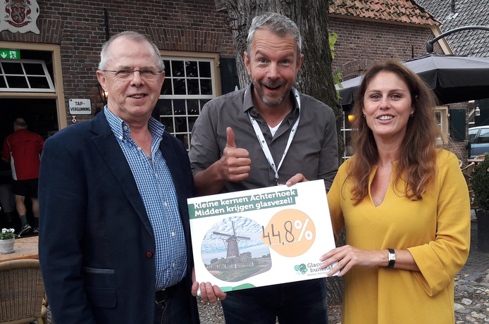 Johan Vennevertloo (Rietmolen) en Tom Vleerbos en Teresa Moriana van Glasvezel Buitenaf