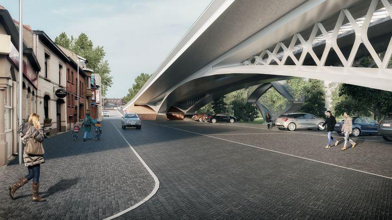 Conceptbeelden van de nieuwe dorpsbrug in Ingelmunster.