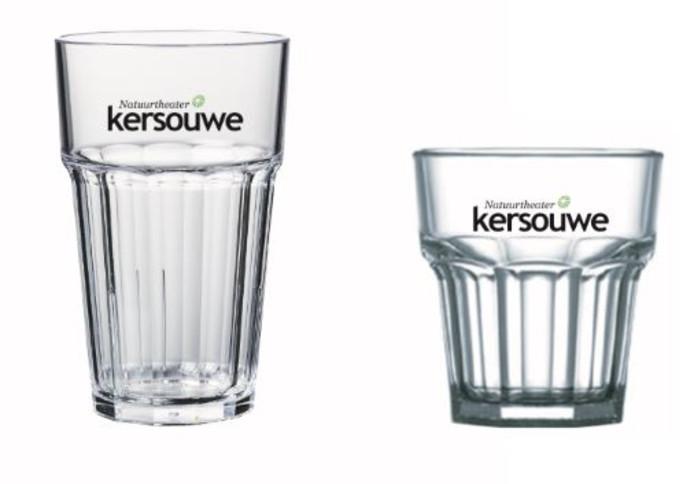 De nieuwe, herbruikbare drinkglazen van De Kersouwe.
