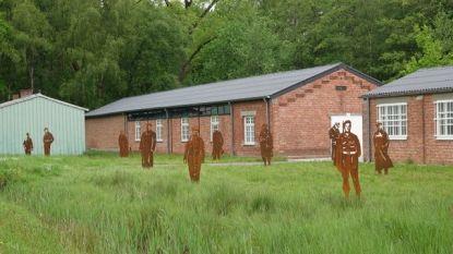 Kunstproject met tien silhouetten in Vloethemveld herdenkt militairen en krijgsgevangenen van voormalig kamp