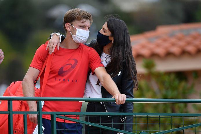 David Goffin met zijn vrouw Stephanie Tuccitto in Monte Carlo.