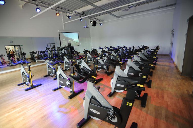 In de cyclingzaal kan op een interactieve manier gefietst worden.