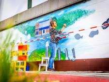 De muurschildering van Ida wordt straks door tienduizenden mensen gezien, en er zit een boodschap achter