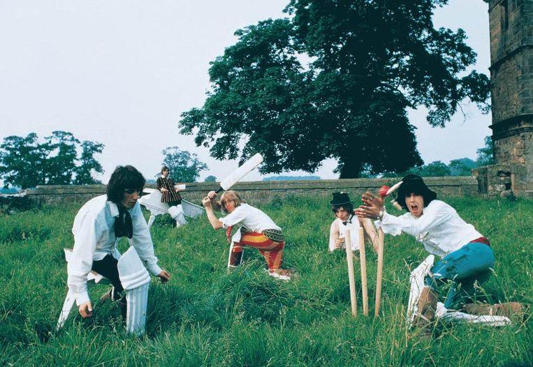 Mick Jagger is een ware cricketfanaat. Beeld rv