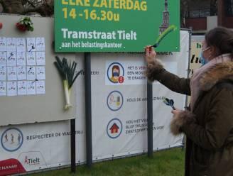 Saghine Lampaert bepaalt met dartpijltjes eerste zes winnaars van Boerenmarkt-actie
