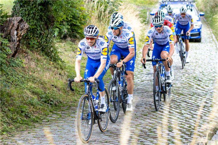 De renners van Deceuninck - Quick-Step.