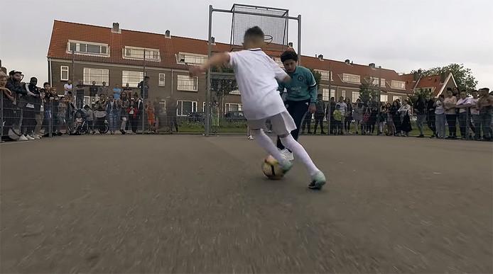 Pleintjesvoetbal in Vlissingen.
