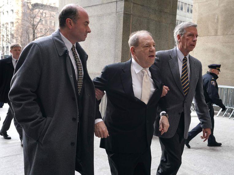 Harvey Weinstein afgelopen januari voor de rechtbank in New York. Beeld AFP