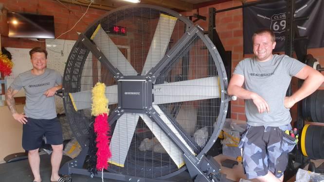 """Bedrijf dat grote, mobiele ventilatoren verkoopt, heeft wind in de zeilen: """"We toeren heel Vlaanderen en Nederland rond"""""""