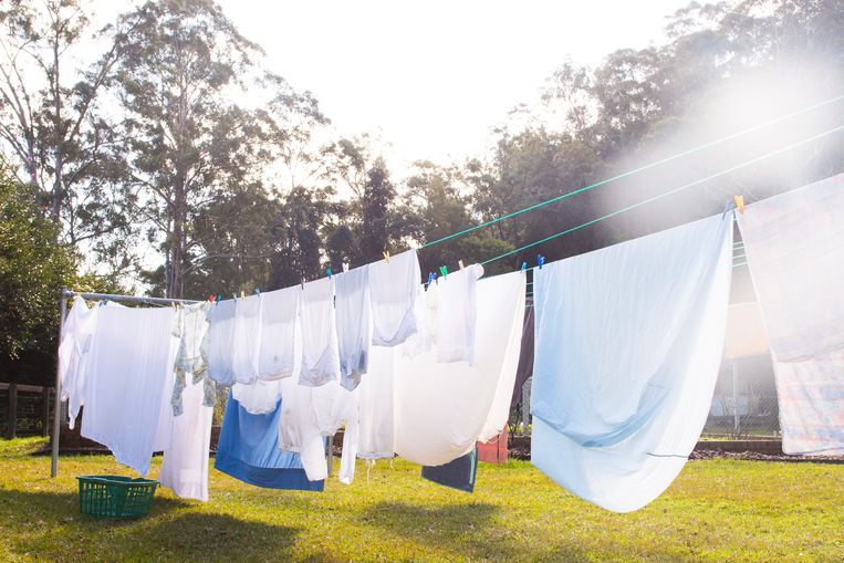 Cloths are hanging on clothesline Beeld Getty Images/iStockphoto