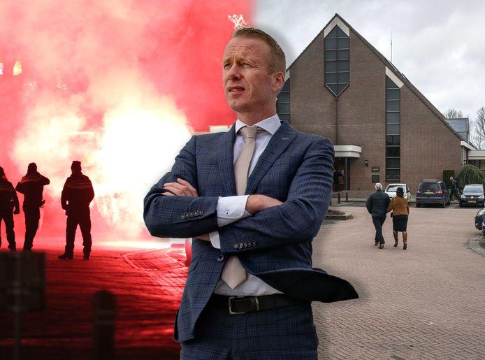 Burgemeester Cees van den Bos heeft niet een bepaald makkelijke tijd op Urk.