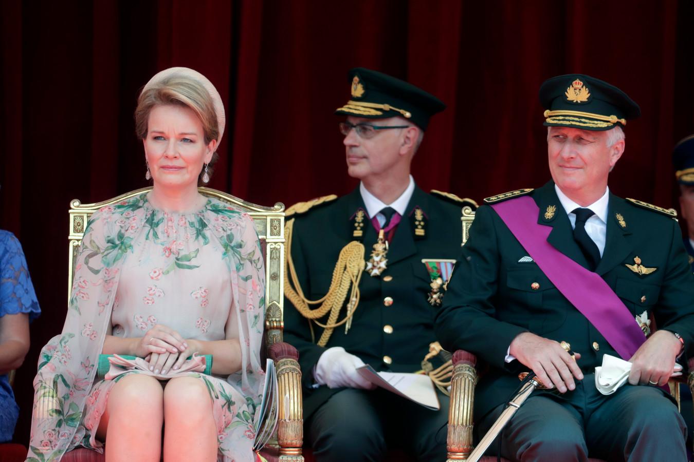 Le roi Philippe et la reine Mathilde.