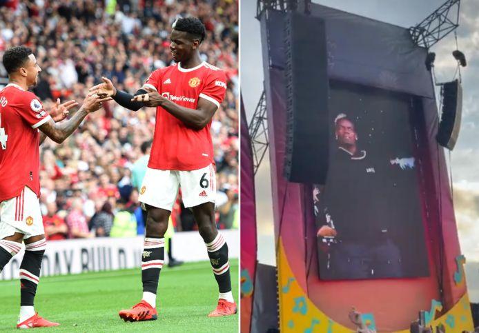 Paul Pogba s'est rendu à un festival après le match.